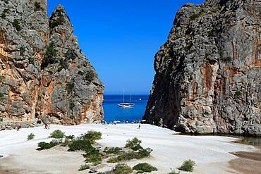 Platja de Torrent de Pareis, Sa Calobra, Mallorca (Majorca), Balearic Islands, Spain, Mediterranean, Europe