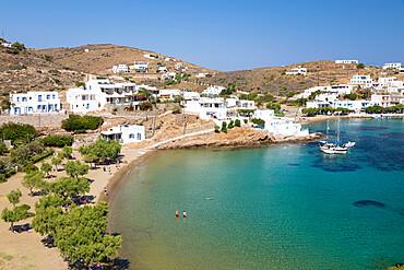 Faros beach on island's south east coast, Faros, Sifnos, Cyclades, Aegean Sea, Greek Islands, Greece, Europe