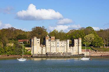 Upnor Castle on the west bank of the River Medway, Upnor, near Chatham, Kent, England, United Kingdom, Europe