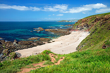 Broad Sand beach, Thurlestone, South Hams district, Devon, England, United Kingdom, Europe