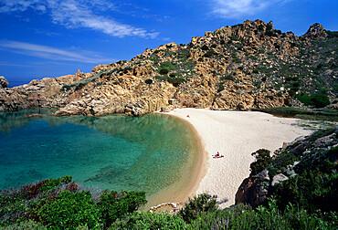 Spiaggia di Cala li Cossi beach on island's north coast, Costa Paradiso, Sassari Province, Sardinia, Italy, Mediterranean, Europe