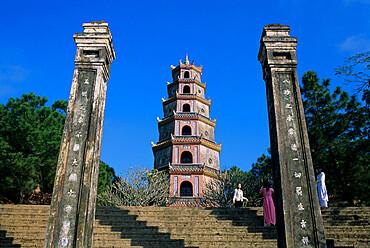 Thien Mu Pagoda (Buddhist Pagoda of the Heavenly Lady) (Celestial Lady Pagoda), Hue, UNESCO World Heritage Site, North Central Coast, Vietnam, Indochina, Southeast Asia, Asia