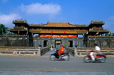 View of the Imperial city of the Nguyen Emperors, The Citadel, Hue, UNESCO World Heritage Site, North Central Coast, Vietnam, Indochina, Southeast Asia, Asia