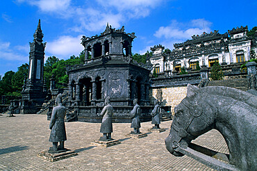 The Court of Honour and the Emperors Mausoleum, Tomb of Khai Dinh, near Hue, North Central Coast, Vietnam, Indochina, Southeast Asia, Asia