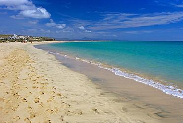 Beach scene, Playa de Sotavento de Jandia, Fuerteventura, Canary Islands, Spain, Atlantic, Europe
