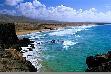 North coast beach, near El Cotillo, Fuerteventura, Canary Islands, Spain, Atlantic, Europe