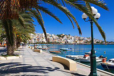 The harbour, Sitia, Lasithi region, Crete, Greek Islands, Greece, Europe