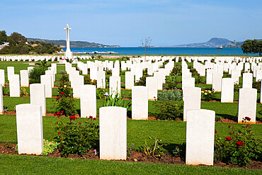 Allied War Cemetery, Soudha Bay, Akrotiri Peninsula, Chania region, Crete, Greek Islands, Greece, Europe