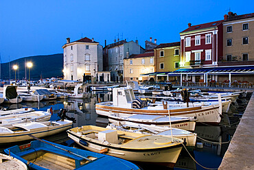 The harbour at dawn, Cres Town, Cres Island, Kvarner Gulf, Croatia, Adriatic, Europe