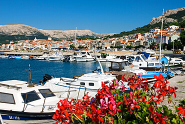 The harbour, Baska, Krk Island, Kvarner Gulf, Croatia, Adriatic, Europe