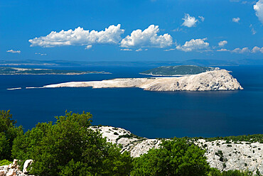 View over islands in the Kvarner Gulf, Kvarner Gulf, Croatia, Adriatic, Europe