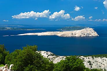 View over islands in the Kvarner Gulf, Kvarner Gulf, Croatia, Adriatic, Europe