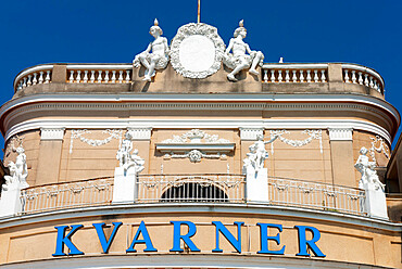 Facade of the Kvarner Hotel, Opatija, Kvarner Gulf, Croatia, Europe