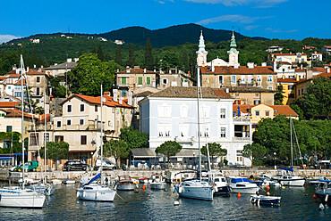 Harbour view, Volosko (near Opatija), Kvarner Gulf, Croatia, Adriatic, Europe