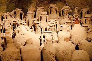 Roman artifacts under the Amphitheatre, Pula, Istria, Croatia, Europe
