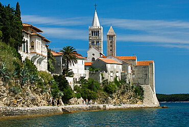 View of old town and campaniles, Rab Town, Rab Island, Kvarner Gulf, Croatia, Adriatic, Europe
