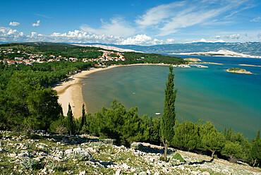 Bay of Veli Mel, San Marino, Lopar Peninsula, Rab Island, Kvarner Gulf, Croatia, Adriatic, Europe