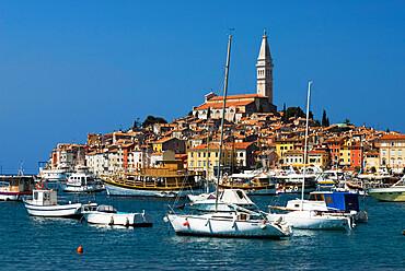 Old Town and St. Euphemia's Church, Rovinj, Istria, Croatia, Adriatic, Europe