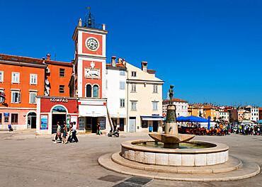 Trg Marsala Tita (Main Square), Rovinj, Istria, Croatia, Europe