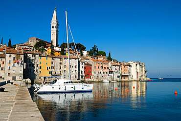 Old Town and St Euphemia's Church, Rovinj, Istria, Croatia, Adriatic, Europe