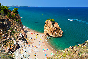 Illa Roja beach, Sa Riera, near Begur, Costa Brava, Catalonia, Spain, Mediterranean, Europe