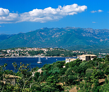 View over Golfe de Porto Vecchio, Porto Vecchio, South East Corsica, Corsica, France, Mediterranean, Europe