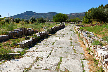 Sacred Way, Ireon archaeological site, Ireon, Samos, Aegean Islands, Greece