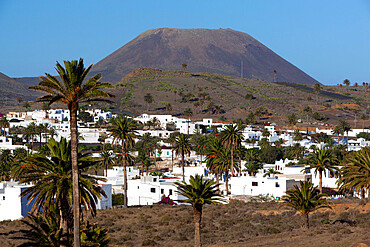 View over village, Haria, Lanzarote, Canary Islands, Spain