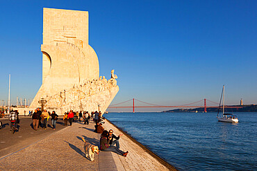 Monument to the Discoveries beside the Tagus River, Belem, Lisbon, Portugal, Europe