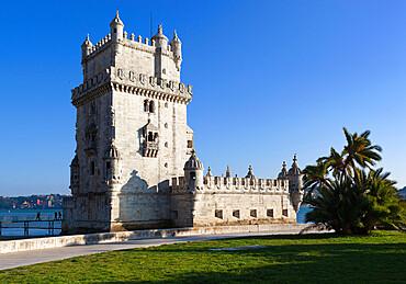 Torre de Belem, UNESCO World Heritage Site, Belem, Lisbon, Portugal, Europe