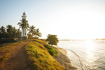 Galle Lighthouse at dawn, Galle, Old Town, UNESCO World Heritage Site, South Coast, Sri Lanka, Asia