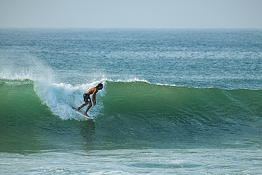 Surfing, Weligama Bay, South Coast, Sri Lanka, Asia