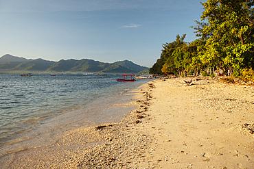 Beach at Gili Air, Gili Islands, Lombok Region, Indonesia, Southeast Asia, Asia