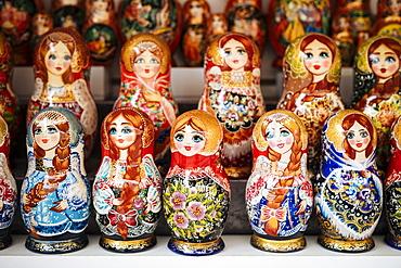 Matryoshka dolls, St. Petersburg, Leningrad Oblast, Russia, Europe