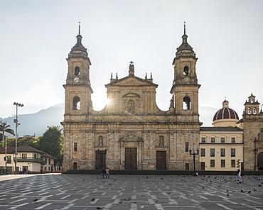 Exterior of National Cathedral, Bolivar Square, La Candelaria, Bogota, Cundinamarca, Colombia, South America