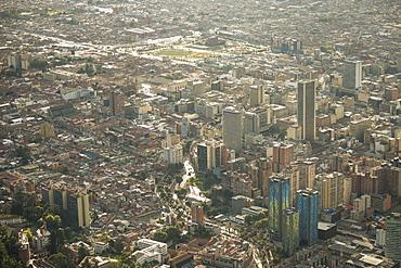 View from Cerro Monserrate, Bogota, Cundinamarca, Colombia, South America