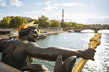 Pont Alexandre III and River Seine, Paris, Ile-de-France, France, Europe
