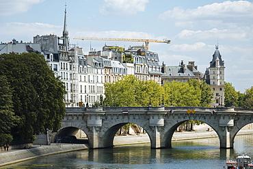 River Seine, Palais de la Cite, Paris, Ile-de-France, France, Europe