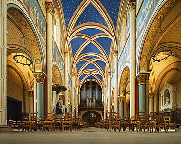 Interior of Benedictine Abbey of Saint-Germain-des-Pres, Paris, Ile-de-France, France, Europe