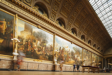 The Battles Gallery, Palace of Versailles, UNESCO World Heritage Site, Yvelines, Ile-de-France, France, Europe