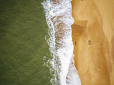Aerial View of Hossegor Beach, Les Landes, France, Europe