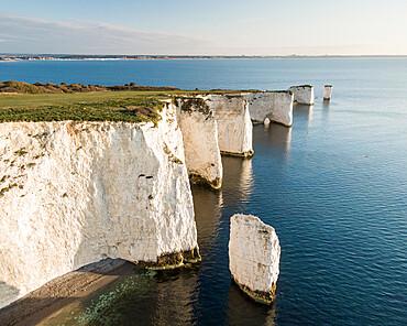 Old Harry Rocks, Jurassic Coast, UNESCO World Heritage Site, Dorset, England, United Kingdom, Europe