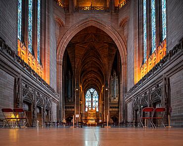 Interior of Liverpool Cathedral, Liverpool, Merseyside, England, United Kingdom, Europe