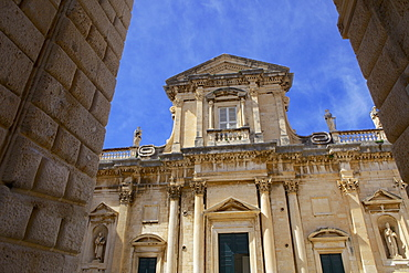 Baroque Cathedral of the Assumption of the Virgin in the old town of Dubrovnik, UNESCO World Heritage Site, Croatia, Europe