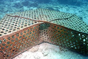Entrance to fish trap, Mahe, Seychelles, Indian Ocean