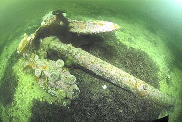 Anchor from German Battleship Seydlitz, Scapa Flow, Orkney islands, Scotland, UK