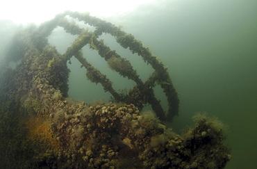 British Blockship Ilsenstein bows, Scapa Flow, Orkney Islands, Scotland, UK