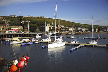 Yacht marina in Stromness harbour, Scapa Flow, Orkney Islands, Scotland, UK