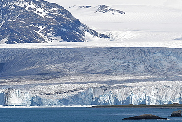 Part of Nordenskjold glacier, Cumberland East Bay, South Georgia, Polar Regions