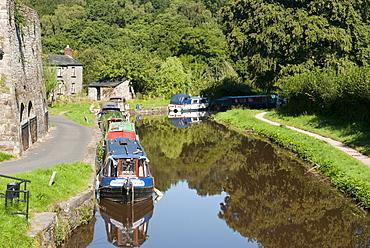 Canal Boats, Llangattock, Wales, UK - 994-26